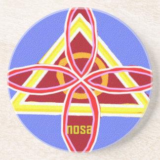 Grafische Art. van het Symbool van NOSA Karuna Zandsteen Onderzetter