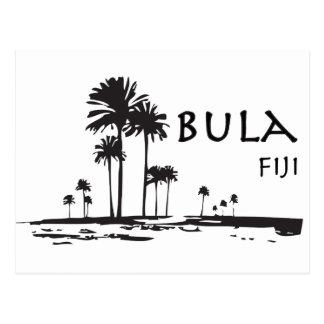 Grafische de Palm van Fiji van Bula Briefkaart