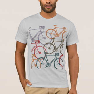 grafische fietsen/fiets het cirkelen t shirt