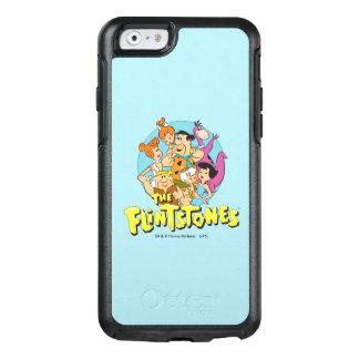 Grafische Flintstones en de Familie van het Puin OtterBox iPhone 6/6s Hoesje