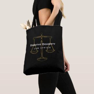 Grafische Gouden Schalen van Rechtvaardigheid | Draagtas