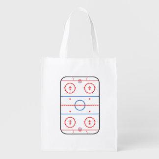 Grafische het Spel van het Hockey van het Diagram Boodschappentas