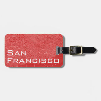 Grafische Kaart van San Francisco Bagagelabel