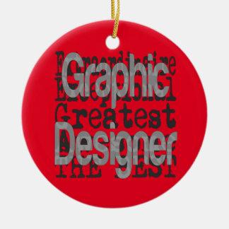 Grafische Ontwerper Extraordinaire Rond Keramisch Ornament