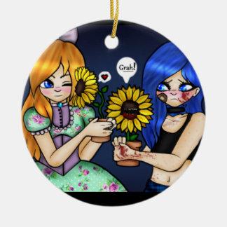 Grah! Rond Keramisch Ornament