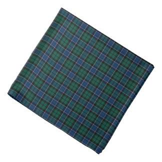Graham Clan Tartan Dark-blue en Groene Plaid Bandana