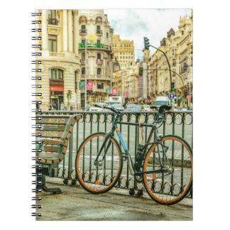 Gran via Straat, Madrid, Spanje Ringband Notitieboek