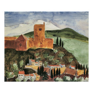 Granada II door Walter Gramatte Poster