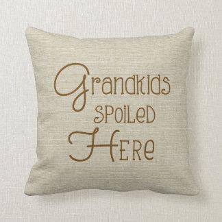 Grandkids bedierf hier - jute-blik sierkussen