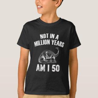 Grappig 50 jaar verjaardagsdesign t shirt