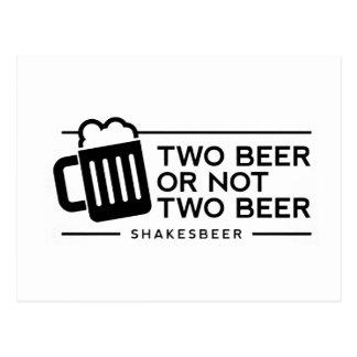 "Grappig Bier ""Twee Bier van het Bier of niet Twee Briefkaart"