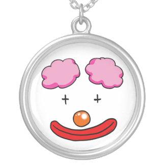 Grappig clowngezicht ketting rond hangertje
