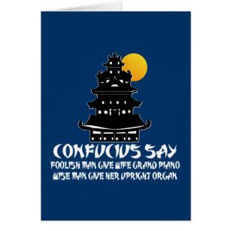 Grappig Confucius Briefkaarten 0