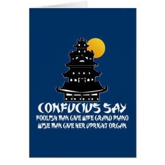 Grappig Confucius Wenskaart