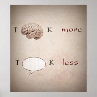 Grappig denk meer Bespreking Minder Poster