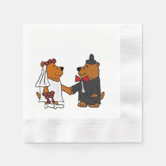 Grappig draag het Art. van het Huwelijk van de Papieren Servetten