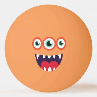 Grappig drie-Eyed Leuk Monster Pingpongbal
