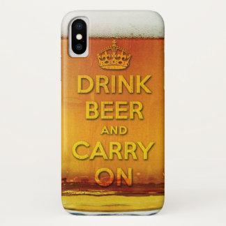 Grappig drink bier en draag iPhone x hoesje