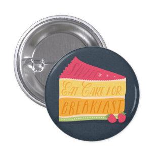 Grappig eet cake voor ontbijtknoop ronde button 3,2 cm