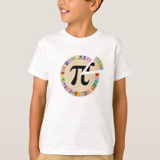 Grappig en Kleurrijk Stuk van Berekend Pi T Shirt