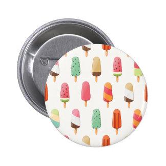 Grappig en leuk gekleurd roomijspatroon ronde button 5,7 cm