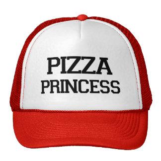 Grappig foodiespreuk van de Prinses van de pizza Trucker Petten