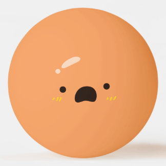 Grappig Gezicht Smiley. Emoji Emoticon. Ongerust Pingpongbal