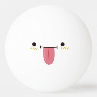 Grappig Gezicht Smiley. Emoji Emoticon. Speelse Pingpongbal