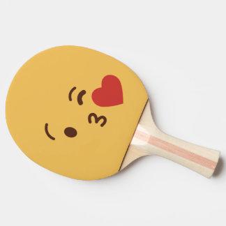 Grappig Gezicht Smiley. Emoji. Emoticon. Tafeltennis Bat