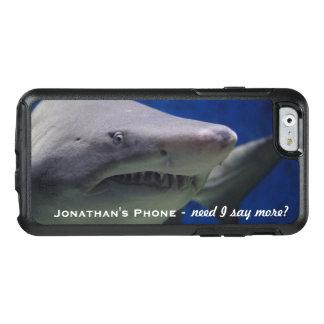 Grappig Groot Wit Haai Gepersonaliseerd Monogram OtterBox iPhone 6/6s Hoesje