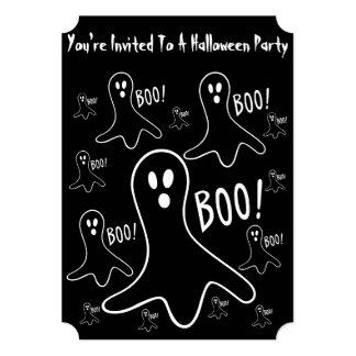 grappig Halloween spoken het schreeuwen 12,7x17,8 Uitnodiging Kaart
