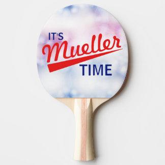"""Grappig """"het is de Tijd van Mueller """" Tafeltennis Bat"""