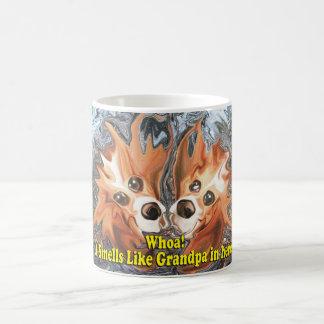Grappig hier ruikt het als opa in! koffiemok