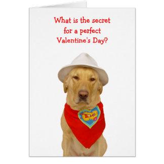 Grappig Hond/Laboratorium Valentijn voor iedereen Wenskaart