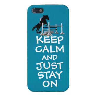 Grappig houd Rust & enkel Verblijf op Paard iPhone 5 Covers