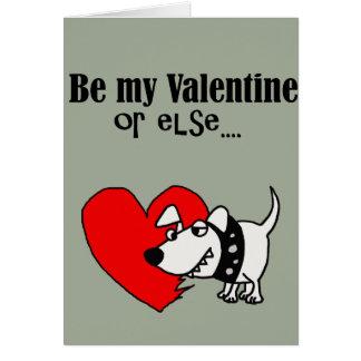 Grappig is mijn Valentijn of anders Cartoon van de Wenskaart
