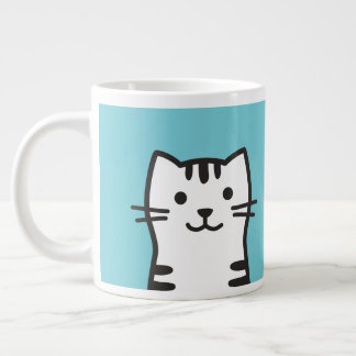 Grappig kattenportret grote koffiekop