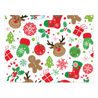 Grappig Kleurrijk Patroon Christmassy Briefkaart