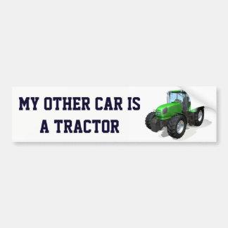 """Grappig """"Mijn Andere Auto is een Tractor """" Bumpersticker"""