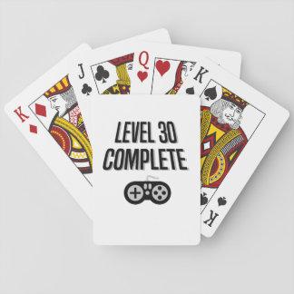 Grappig Niveau 30 van de Verjaardag Gamer Speelkaarten
