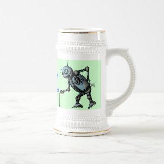 Grappig oud de mokontwerp van het robotbier bierpul