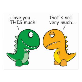 grappig-t-Rex-weinig-wapen-cartoon Briefkaart