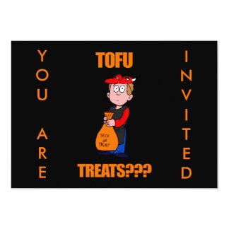 Grappig Trick or treat Halloween 12,7x17,8 Uitnodiging Kaart