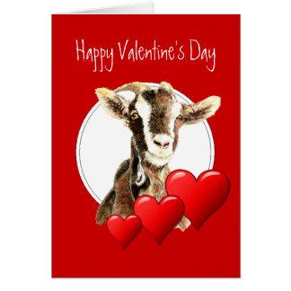 Grappig Valentijn aan Oude Geit, humor Wenskaart
