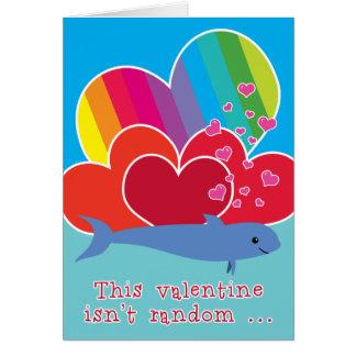 Grappig Valentijn met het Hart van de Regenboog Wenskaart