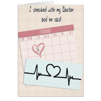 Grappig Valentijn Mijn Arts Bovengenoemde… Briefkaarten 0