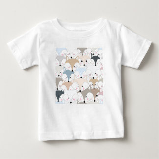 Grappig van de cartoon leuk vos of wolf patroon baby t shirts