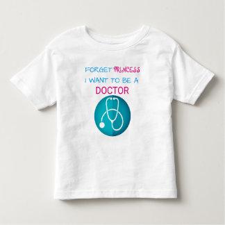 """Grappig """"vergeet Prinses, wil ik een Arts """" zijn Kinder Shirts"""