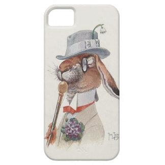 Grappig Vintage Antropomorf Konijn Barely There iPhone 5 Hoesje