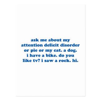 Grappig VOEG Citaat ADHD toe - Blauwdruk Briefkaart